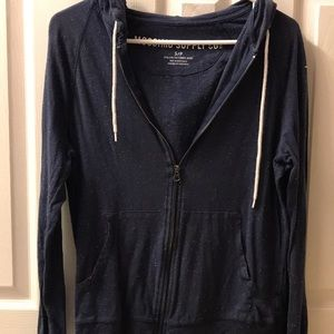 Navy with White Speckle Hoodie